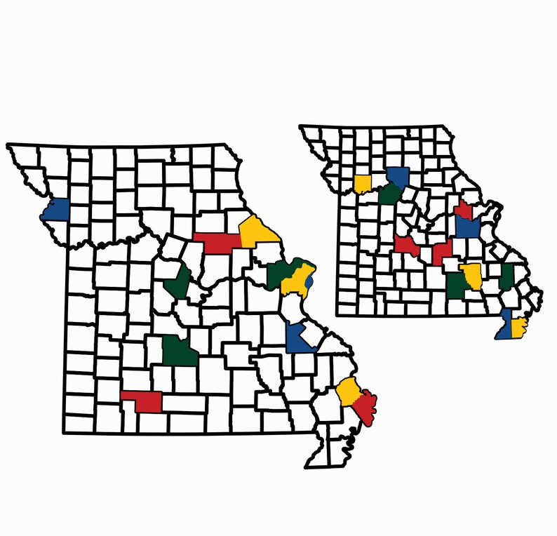 Missouri County Map Adventure Tracker Missouri County Map RV image 0