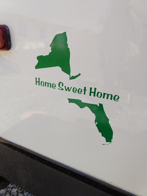 Home Sweet Home Decal State Home Sweet Home Decal Camper | Etsy