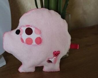 Pink pig PIGGY fleece and cotton