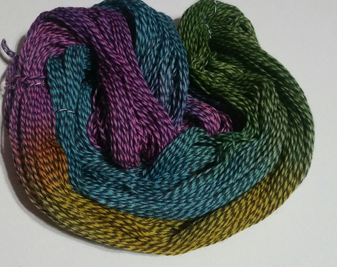 Featured listing image: January Colorway! Stained Glass! Sock yarn
