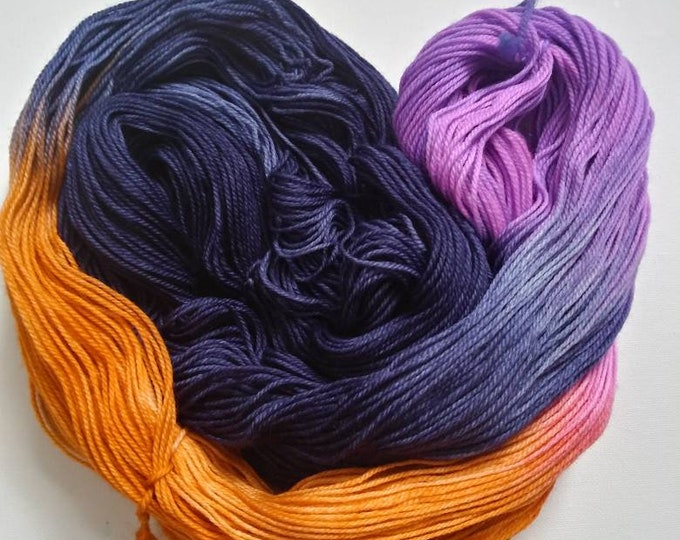 Featured listing image: April 19-Navy Flowers Hand Dyed Yarn