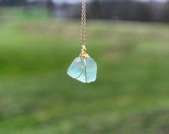 Necklace quartz - quartz necklace