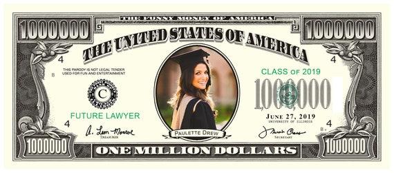 Custom Fake Money Graduation Announcement (sets of 100)