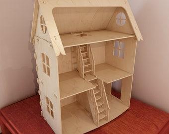 Wooden Dollhouse Etsy