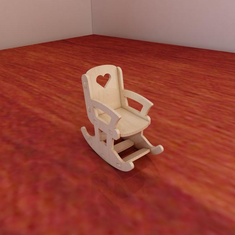 d531856d8 Patrón de muñeca silla mecedora para el corte de router y CNC | Etsy