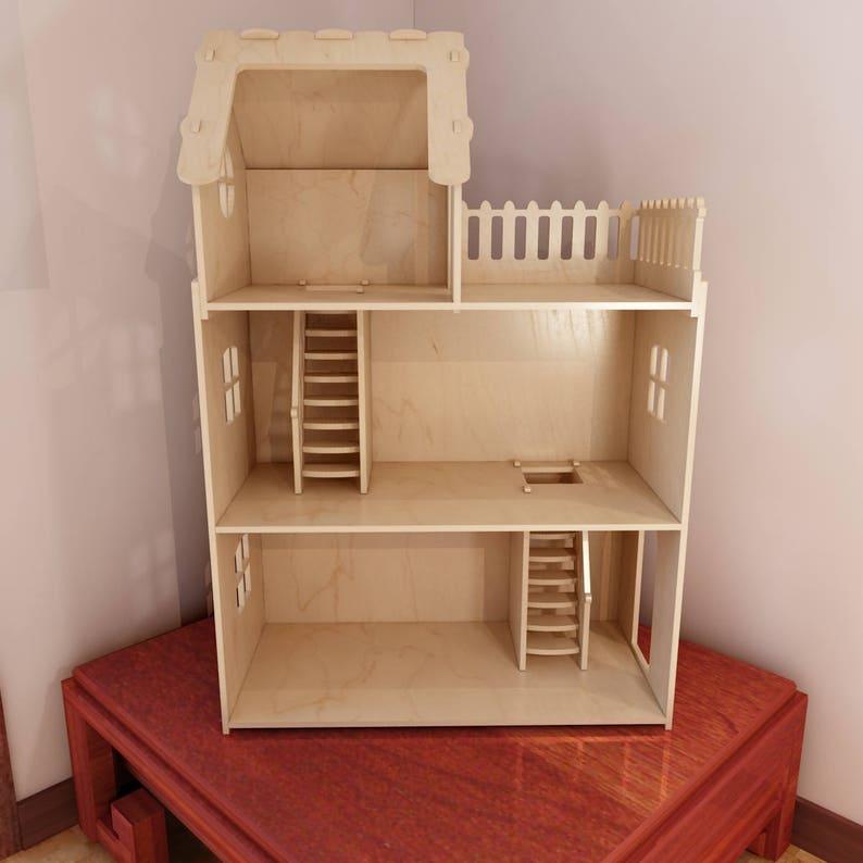 Tylko na zewnątrz Duży dom dla lalek sklejka dla Barbie. CNC plik cięcia | Etsy HT12