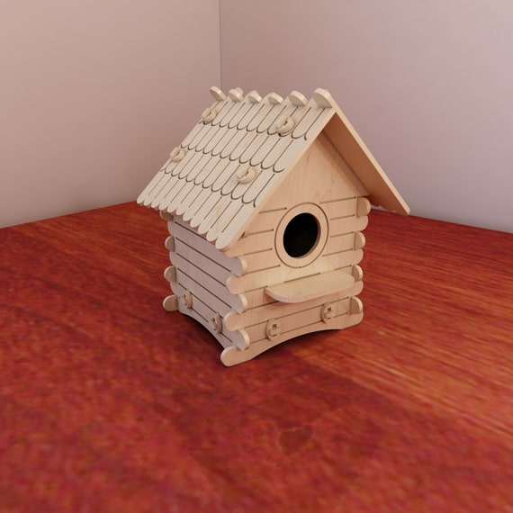 Great Wooden Birdhouse Pattern Vector Plans For Cnc Router Etsy