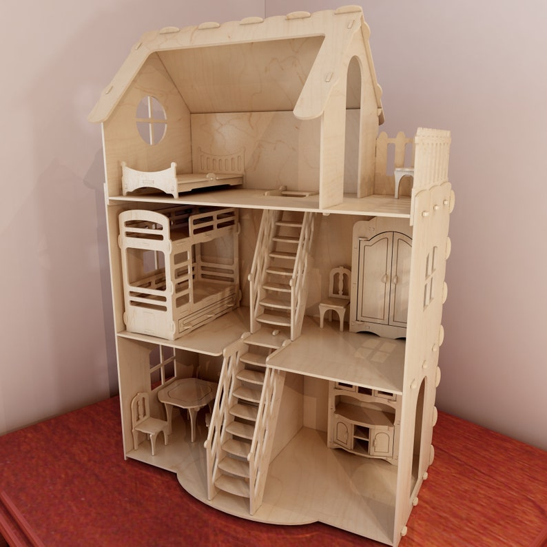 """DOLLHOUSE 1:12 Scale Miniature /""""BOARDING HOUSE/"""" Wooden Laser Cut Store Sign"""
