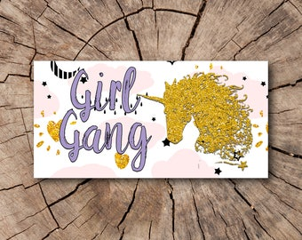 Girl Gang Bumper Stickers  | Rep The Resistance