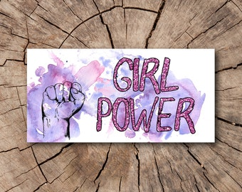 Girl Power Bumper Stickers, Stickers  | Rep The Resistance