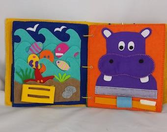 Quiet Book-Montessori tactile book-Busy book in felt-interactive Activity book NEWS!!!!