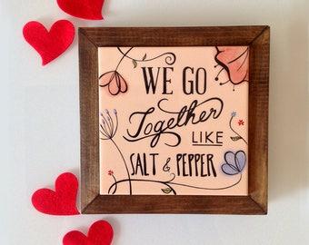 Unsere Erste Haus Geschenk, Einzigartiges Geschenk Paar, Keramik  Untersetzer, Fliesen Tisch Matte, Handgemachte Tischset, Von Hand Bemalt  Tischset, ...