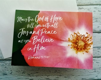 Romans 15 13 card etsy bible verse christmas cards set x2 red flower greeting card romans 1513 christmas scripture bible verse note cards religious xmas card m4hsunfo