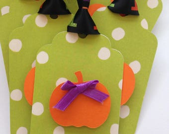 Trick or Treat party favor tags/Trick or treat gift tags - pumpkin