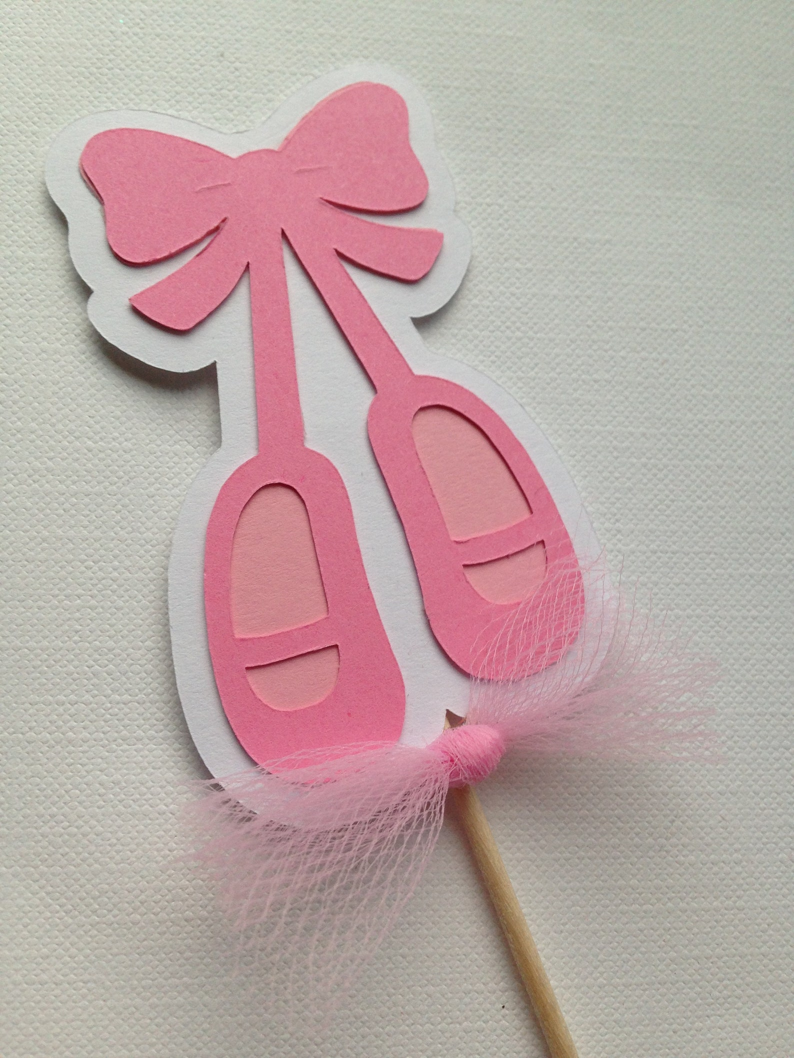 ballet slipper cupcake toppers