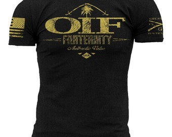ded588d62 OIF Fraternity-Grunt Style graphic t-shirt