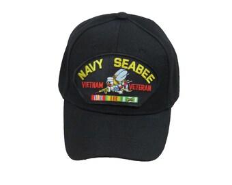 58dd509de35 US Navy Seabee Vietnam Veteran Cap