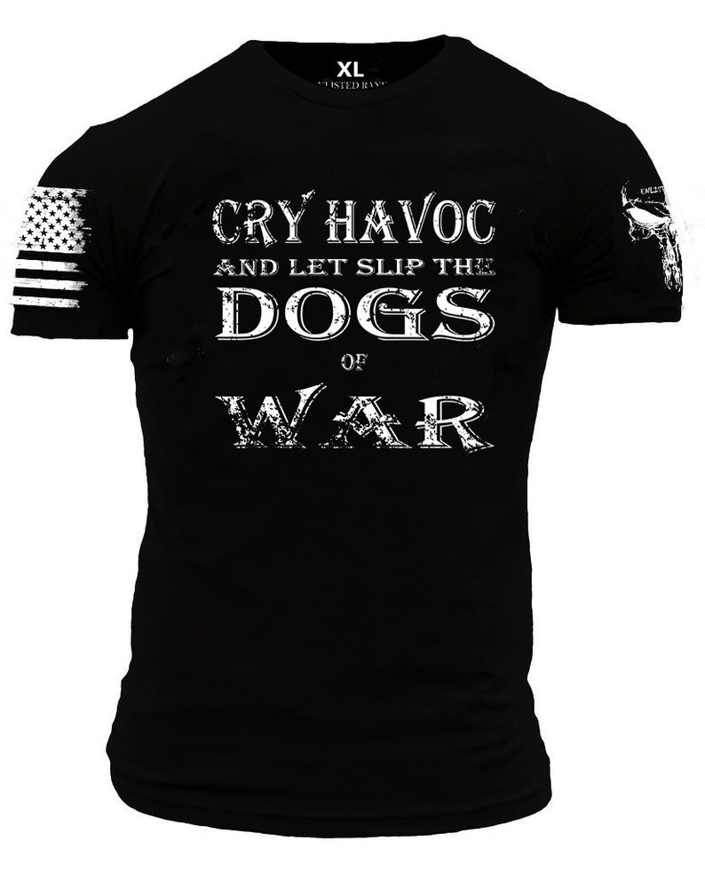 286f8c104566a CRY HAVOC Enlisted Ranks graphic t-shirt | Etsy