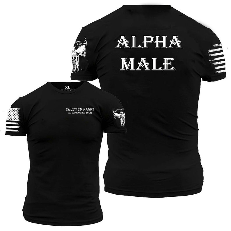 069ee09ed9ce ALPHA MALE Enlisted Ranks graphic t-shirt | Etsy