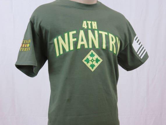 00dc1087 4th Infantry Division Vietnam Veteran t-shirt | Etsy