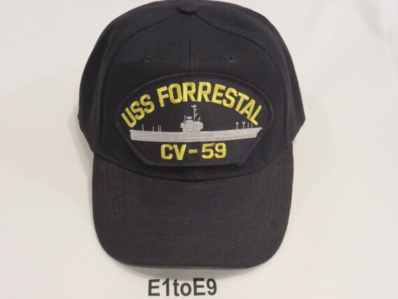 USS FORRESTAL CV-59 Cap  ee82251d223
