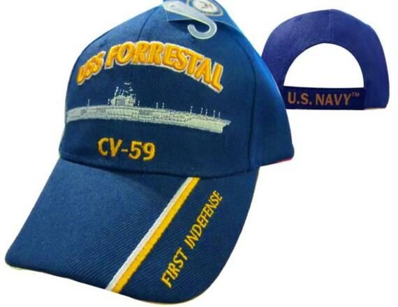 USS FORRESTAL Cap CV-59  b9173f588db