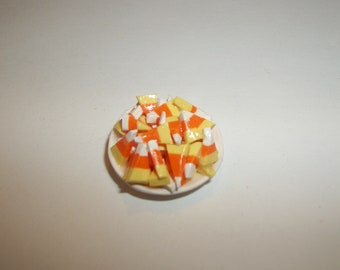 Dollhouse Miniature Candy Corn Food Dish Doll Dessert ~ reference Barbie / Fashion Doll hand for size 1416