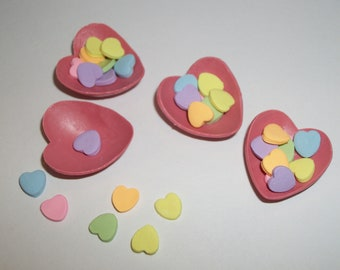 Valentine's Candy, Dollhouse Miniature Heart Dessert Doll Food -see Barbie Hand for reference to size 818