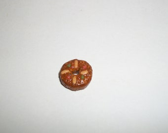 1:12 One Half Inch Scale Dollhouse Miniature Handcrafted Christmas Holiday Fruit Cake Bread 9mm Dessert Food for Dolls 743
