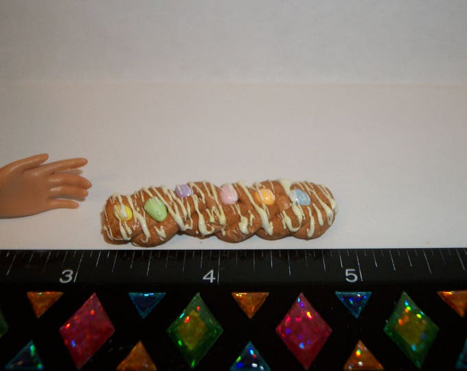Featured listing image: Dollhouse Miniature Handcrafted Braided Easter Egg Bread Dessert Cake Doll Food ~ 1 13/16 inches - see Barbie hand for reference 1438