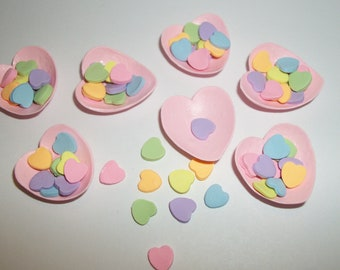 Valentine's Heart Candy, Dollhouse Miniature Dessert Food -see Barbie Hand for reference to size 817