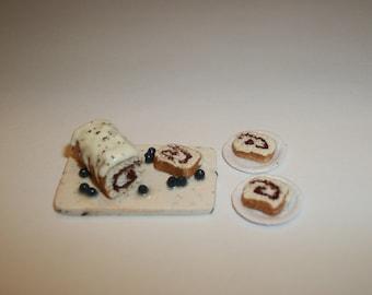 Miniature Cinnamon Bread / 1:12 One Inch Scale Dollhouse / Fake Breakfast Doll Food  1718