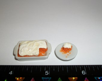 1:12 One Inch Scale Dollhouse Miniature Handcrafted Pumpkin Spice Bread Dessert Doll Food