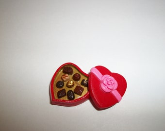 Valentine Candy, Doll Food, Dollhouse Miniature Dessert -see Barbie Hand for reference to size 824