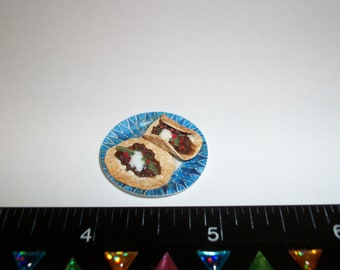1:12 One Inch Scale Dollhouse Miniature Handcrafted Soft Taco Dinner Food for the Doll House - 1490