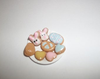 Dollhouse Miniature Small Easter Cookies Dessert Doll Food 711