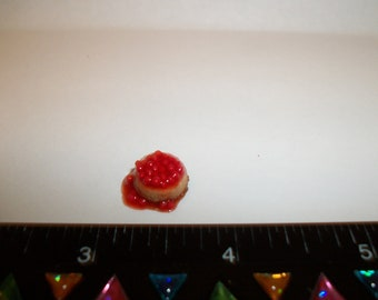 1:24 One Half Inch Scale Dollhouse Miniature Handcrafted Cherry Cheesecake Dessert Doll Food 900