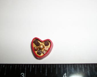 14mm ~ Dollhouse Miniature Handcrafted Valentines Day Heart Chocolate Candy Sweet Dessert Doll Food 903