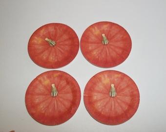 Dollhouse Miniature Thanksgiving / Fall Pumpkin Paper Plates for Doll Food