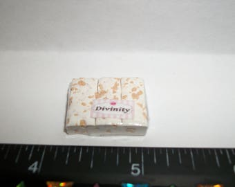 New Dollhouse Miniature Handcrafted Packaged Christmas Divinity Candy Sweet Dessert Food #1411