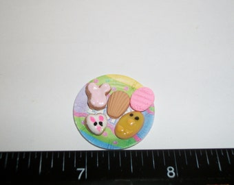 Dollhouse Miniature Handcrafted Easter Cookies ~ Dessert Doll Food 926