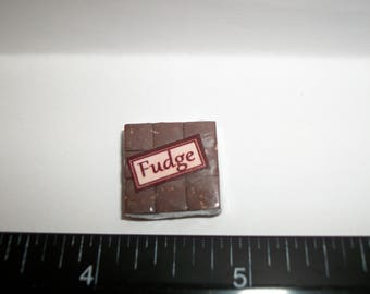 New Dollhouse Miniature Handcrafted Packaged Christmas Fudge Candy Sweet Dessert Food #1415