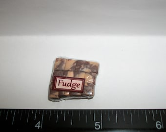 New Dollhouse Miniature Handcrafted Packaged Christmas Fudge Candy Sweet Dessert Food #1409