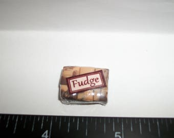 New Dollhouse Miniature Handcrafted Packaged Christmas Fudge Candy Sweet Dessert Food #1414
