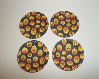 Dollhouse Miniature Halloween/Fall Pumpkin Paper Plates & Napkins for Doll Food