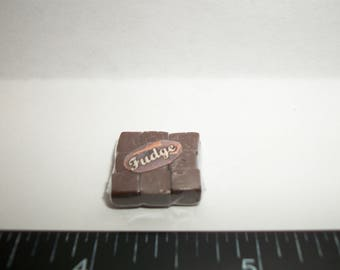 New Dollhouse Miniature Handcrafted Packaged Christmas Fudge Candy Sweet Dessert Food #1413