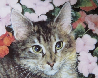 Cat collectors plate by Lesley Anne Ivory - 'Tabitha in Bizzie-Lizzies'.