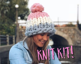 3c7ac07d2ac Knitting Kit - Super Chunky Merino Beanie