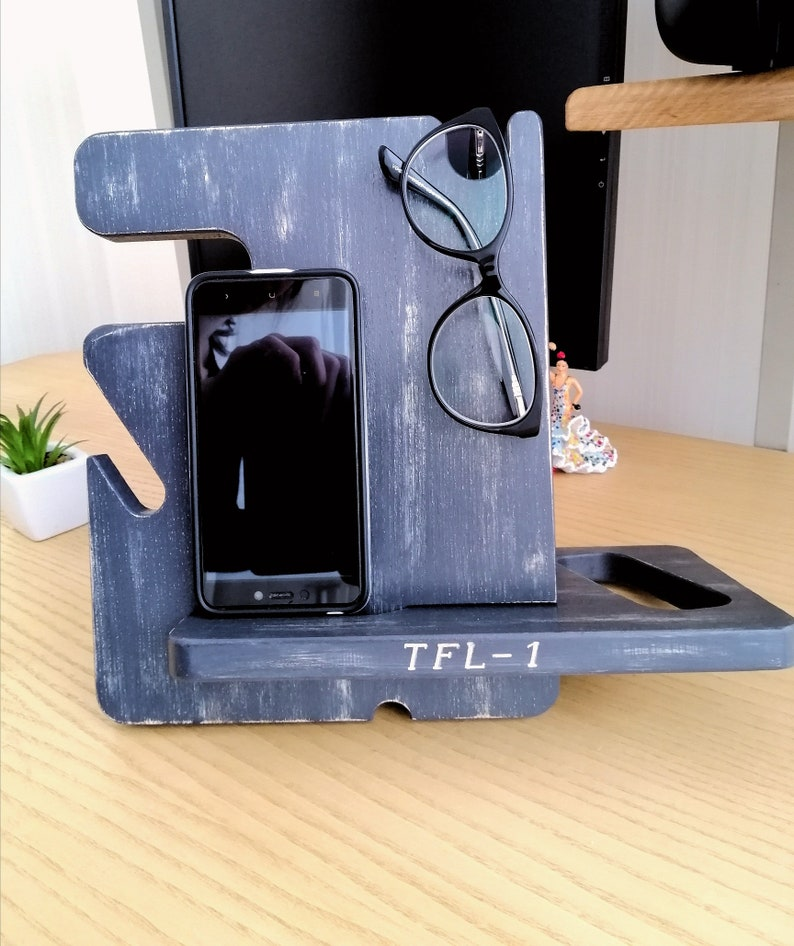 Docking Station Natural Personalized Docking Stand Wood Phone Dock Docking Gift For Him Wooden Stand Iphone docking