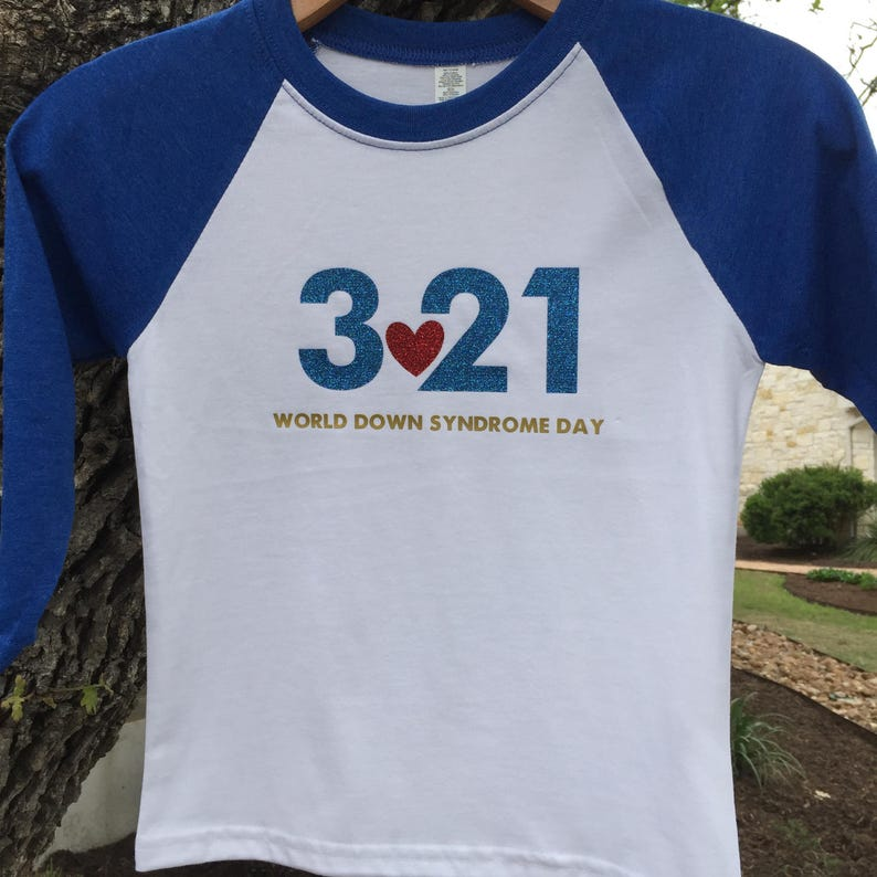 0207c550cb 3 21 Down Syndrome Awareness Day - Unisex Men Women and Youth (with or  without glitter) - 3-21 March 21 321 - FREE SHIPPING ruby's rainbow
